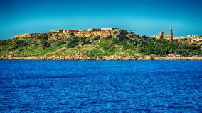 Malta: Mgarr, a harbour town in Gozo island. Mediterranean Sea Royalty Free Stock Images