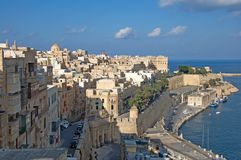Malta, Most beautiful landmark of Old Town of Valletta stock photography
