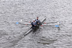 Malta/NARR - Composite races in the Head of Charles Regatta Men's Master Doubles. BOSTON - OCTOBER 18, 2015: Malta/NARR - Composite races in the Head of Charles Royalty Free Stock Image