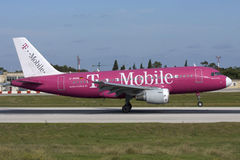 Malta, am 20. November 2007: Deutscher beflügelt A320 Stockfotografie