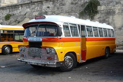 Malta Old Bus. Old bus in Malta. Until recent years they had some very old buses. Also were very attractive some of them were not very comfortable Stock Photo