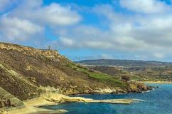 Malta, opinión de la costa costa Imagen de archivo
