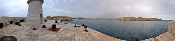 Malta Panorama. Panorama of the harbour of Malta Royalty Free Stock Photo