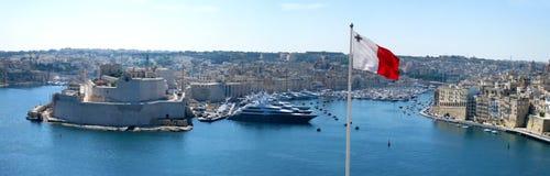Malta panorama. Aerial panorama of Valletta, Malta Royalty Free Stock Photo