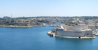 Malta panorama. Aerial panorama of Valletta, Malta Royalty Free Stock Photos