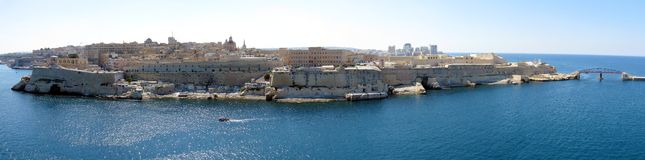 Malta panorama. Aerial panorama of Valletta, Malta Royalty Free Stock Images