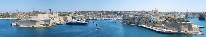 Malta panorama. Panorama of city of Valletta, Malta Royalty Free Stock Photos