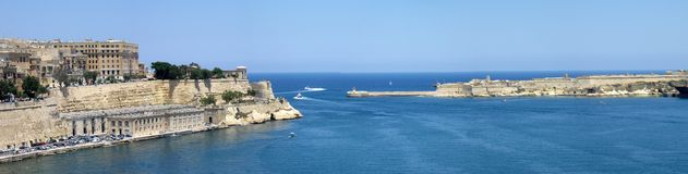 Malta panorama. Panorama of city of Valletta, Malta Stock Images