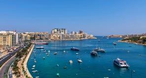 Malta - panorama de Sliema Imágenes de archivo libres de regalías