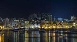 Malta - Panorama of Sliema Royalty Free Stock Images