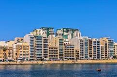 Malta - Panorama of Sliema Stock Image