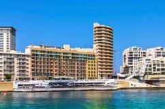 Malta - Panorama of Sliema Stock Images