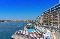 Malta - Panorama of Sliema Royalty Free Stock Photos