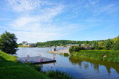 Malta park lake. Large lake at the Malta park on a sunny day in Poznan, Poland Stock Photos