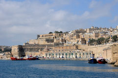 Malta, the picturesque bay of Valetta Stock Photography