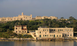 Malta, the picturesque bay of Valetta. Republic of Malta, the picturesque bay of Valetta Stock Photos