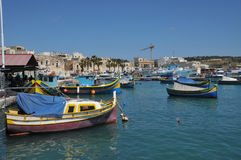 Malta, the picturesque city of Marsaxlokk. Republic of Malta, the picturesque city of Marsaxlokk Stock Images