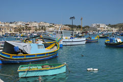 Malta, the picturesque city of Marsaxlokk Royalty Free Stock Image