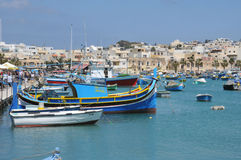 Malta, the picturesque city of Marsaxlokk Royalty Free Stock Images