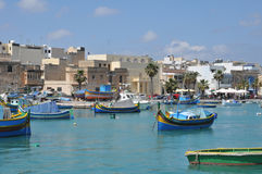 Malta, the picturesque city of Marsaxlokk. Republic of Malta, the picturesque city of Marsaxlokk Stock Photo