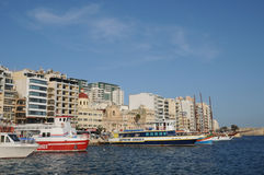 Malta, the picturesque city of Sliema Stock Image