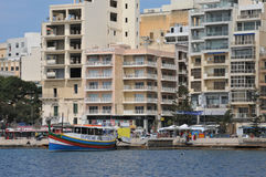 Malta, the picturesque city of Sliema. Republic of Malta, the picturesque city of Sliema Stock Photos