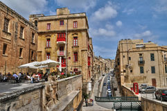 Malta, the picturesque city of Valetta Royalty Free Stock Photos