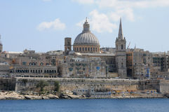 Malta, the picturesque city of Valetta. Republic of Malta, the picturesque city of Valetta Stock Photos
