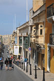 Malta, the picturesque city of Valetta Stock Photography
