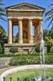 Malta, the picturesque city of Valetta. Republic of Malta, the picturesque lower barrakka garden in the city of Valetta Stock Images