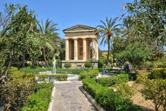 Malta, the picturesque city of Valetta. Republic of Malta, the picturesque lower barrakka garden in the city of Valetta Stock Image
