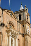Malta, the picturesque city of Valetta. Republic of Malta, the Saint John co cathedral of Valetta Royalty Free Stock Photo