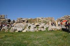 Malta, the picturesque Ggantija temple in Gozo. Republic of Malta, the picturesque Ggantija temple in Gozo Royalty Free Stock Photos