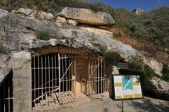 Malta, the picturesque Ghar Dalam cae in Birzebbuga Royalty Free Stock Photography