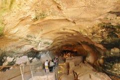 Malta, the picturesque Ghar Dalam cae in Birzebbuga Royalty Free Stock Photos