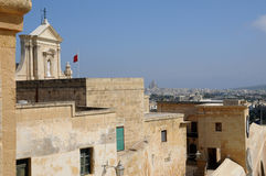 Malta, the picturesque island of Gozo. Republic of Malta, the picturesque city of Victoria Stock Image