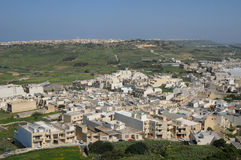 Malta, the picturesque island of Gozo. Republic of Malta, the picturesque city of Victoria Royalty Free Stock Photo