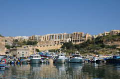 Malta, the picturesque island of Gozo. Republic of Malta, the picturesque Mgarr harbour in Gozo Royalty Free Stock Photography
