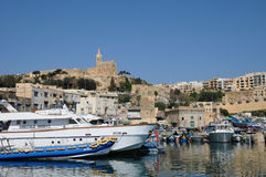 Malta, the picturesque island of Gozo. Republic of Malta, the picturesque Mgarr harbour in Gozo Royalty Free Stock Images