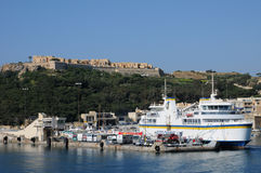 Malta, the picturesque island of Gozo. Republic of Malta, the picturesque Mgarr harbour in Gozo Stock Image