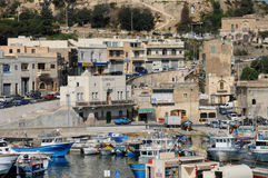 Malta, the picturesque island of Gozo. Republic of Malta, the picturesque Mgarr harbour in Gozo Stock Images