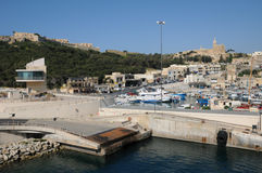 Malta, the picturesque island of Gozo. Republic of Malta, the picturesque Mgarr harbour in Gozo Stock Photos