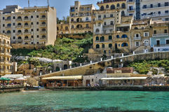 Malta, the picturesque island of Gozo. Republic of Malta, the picturesque village of Xlendi Royalty Free Stock Photography
