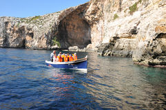 Malta, the picturesque site of Blue Grotto. Republic of Malta, the picturesque site of Blue Grotto in Wied Iz Zurrieq Royalty Free Stock Photos