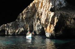 Malta, the picturesque site of Blue Grotto. Republic of Malta, the picturesque site of Blue Grotto in Wied Iz Zurrieq Stock Photos