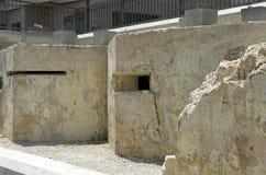 Malta poco conocida - posts de la ametralladora Fotografía de archivo