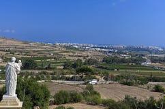 Malta poco nota - statua di San Giuseppe Fotografia Stock