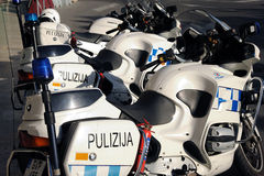 Malta police bikes Stock Images