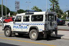 Malta police Landrover 4x4 Stock Photos