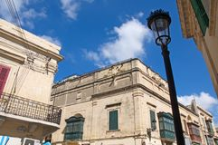 Malta, Rabat - Beautiful details of Maltese architecture, typical for Gozo Island royalty free stock photos